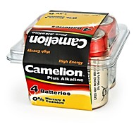 Camelion Plus Alkaline D Size Battery in Plastic Box of 4 PCS