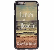 la vida es un caso difícil de playa de diseño de aluminio para el iPhone 6 Plus