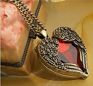 Love Is Your Fashion Happiness Angel Wings Long Necklace Sweater Chain Of Hearts