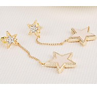 Love Is You Lovely Pentagram Long Zircon Earrings