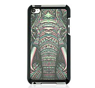 Elephant Leather Vein Pattern Hard Case for iPod touch 4