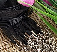 Ribbons Wax Rope Black (10Pcs)