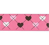 3/8 Inch Elegant Simplicity Sweetheart Pattern Rib Ribbon Printing Ribbon- 25 Yards Per Roll (More Colors)