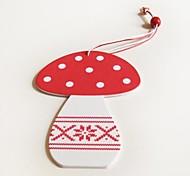 Christmas Decoratives  Mushroom Shape 1 PC MDF Materiels for Christmas Decorations