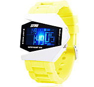 Skmei®Fashion Aircraft Style Children Multifunctional Digital Wrist Watch 5ATM Waterproof Assorted Colors