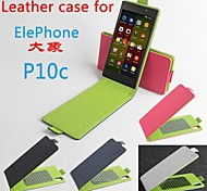 Hot Sale 100% PU Leather Colorful Flip Leather Case for Elephone P10c Up and Down Smartphone 4-color