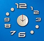 3D DIY Modern Style Acrylic Mirror Circular Simple Wall Clock
