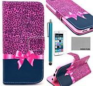 Коко fun® фиолетовый узор леопарда Кожа PU полный чехол для корпуса с экраном Protecter, стоять и стилус для мобильный 6 плюс 5,5