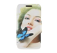 Kinston Butterfly and Beauty Pattern PU Leather Full Body Cover with Stand for iPhone 6