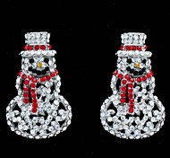 Earring Drop Earrings Jewelry Party / Daily Alloy / Rhinestone Clear