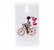 Kinston Bike Girl Pattern Plastic Hard Case for Nokia Lumia 1320