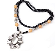 Indian Style Flower Vintage Exquisite Sweater Chain Pendant Necklace
