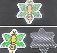 1pcs template padrão claro abelha pegboard para hama contas 5 milímetros contas de fusíveis