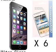[6-pack] alta calidad de protector de pantalla anti-huellas dactilares para iphone 6s más / 6 más
