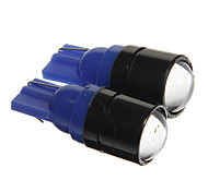 T10 1.5W COB 120LM Blue Light LED Bulbs for Car Instrument/Side Marker Lamp(DC12V 2pcs)