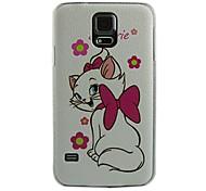 cas dur de modèle de conception de chat pour les i9600 Samsung Galaxy S