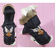 Fashion Winter Jacket with Embroidery Eagle for Pet Dogs (Assorted Sizes)