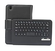 """8.4inch abnehmbaren 59-Tasten-Bluetooth V3.0 Tastatur PU-lederner Kasten für Samsung-Register pro """"T320 - Schwarz"""