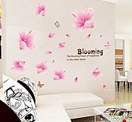 Doudouwo® Wall Stickers Wall Decals, Florals the Warm and Beautiful Lily PVC Wall Stickers