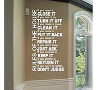 parede citações regra da casa adesivos de parede decalque jiubai ™