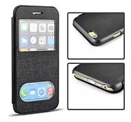 puce flip luxe cas de couverture de cuir pour l'iphone 6 (couleurs assorties)