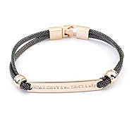 "European Style Where ""There is a Will There is a Way"" Leather Bracelet(Random Color)"