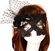 Luxurious Flower Crystal Lace Dance Mask