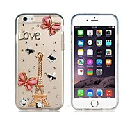 Eiffel Tower Pattern Crystal & Rhinestone Decorated Plastic Case for iPhone 6 (Transparent)