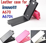 Fashion Leather Flip Case Cover for Lenovo A670/A670t Up and Down Smartphone 3-color