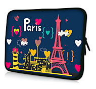 "HUADO® 15"" Paris Laptop Sleeve Case for MacBook Air Pro/HP/DELL/Sony/Toshiba/Asus/Acer"