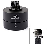 360° Timing Auto Rotation Cradle Head W/CNC Mount for GoPro Hero3+/3 +SLR Iphone Android Phone