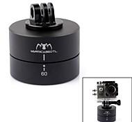 360 ° tempistica testa rotazione automatica culla w / CNC mount per GoPro hero3 + / 3 + slr iphone android phone