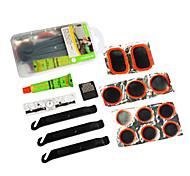 sahoo translúcido pe encaixotado kit de reparação de pneus de bicicleta incluindo alavanca pom pneu