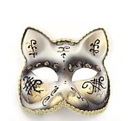 gato blanco ps fiesta de halloween máscara