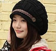 Outdoor Women's Fashion Thickening Warm Wool Cap