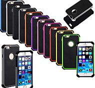 Hybrid Shockproof Dirt Proof Hard Rubber Cover for iPhone 6 (Assorted Colors)