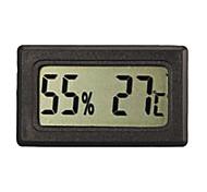 Medidor LCD cubierta exterior Termómetro Digital Medidor Temperatura Negro