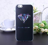 Color Diamond Pattern TPU Soft Cover for iPhone 6