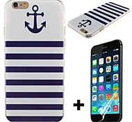 Boat Anchor Pattern Hard with Screen Protector Cover for iPhone 6