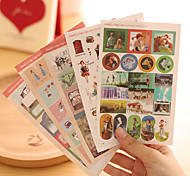 Fairy Gril Scrapbooking Decorate Stickers(5PCS)