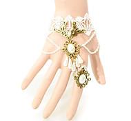 European Style White Lace Ring Bracelet