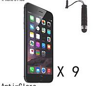 Protector de pantalla de acabado mate antideslumbrante con lápiz táctil de la aguja para el iphone 6s / 6 más (9 piezas)
