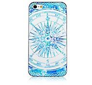 Kompass Muster schwarzer Rahmen zurück Fall für iPhone 4 / 4s