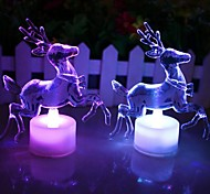 Christmas Reindeer Acrylic Colorful LED Nightlight