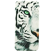 Half Face Snow Leopard Muster Hülle für das iPhone 4/4S
