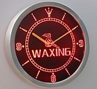 nc0259 Waxing Beauty Salon Shop Display Neon Sign LED Wall Clock