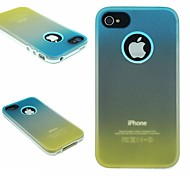 TPU+PC Two in One Blue/Yellow Gradient Back Cover Case for iPhone 4/4S