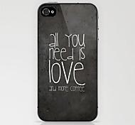 alle liefde koffie harde case voor iPhone 4 / 4s