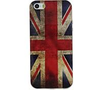 lo stile retrò Union Jack modello TPU materiale morbido caso della copertura posteriore per iPhone 5 / 5s