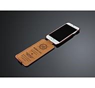 Fashion® ultra mince de cire de pétrole cas de couverture pu flip en cuir pour iPhone 6 (couleurs assorties)